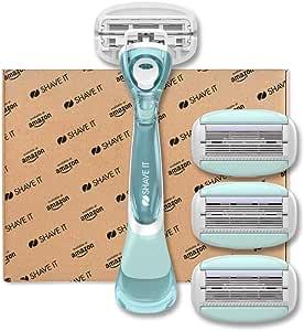 Shave It - Rasoio a 6 lame da donna, con manico e 4 testine