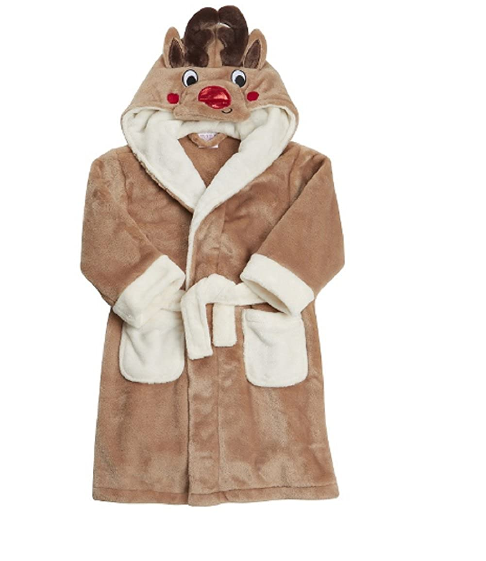 Koo-T Girls Boys Kids Dressing Gowns Animal Character Winter ...