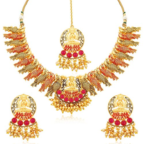 South Indian Traditional Wedding Jewellery Set Lakshmi Temple Peacock Necklace Set for Women Designer Heavy Ethnic Jwellery Set