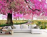 Yosot Custom Tapete Romantische Kirschbaum Sofa Tv Hintergrund Stereoskopische Große Wandbild 3D Tapete-140cmx100cm
