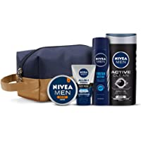 NIVEA Men Combo, Active Clean Shower Gel 250 Ml, Fresh Active Deodorant 150 Ml, All In One Charcoal Face Wash 100 G…