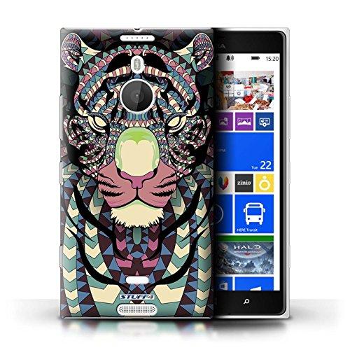 Coque en plastique pour Nokia Lumia 1520 Collection Motif Animaux Aztec - Loup-Mono Tigre-Couleur