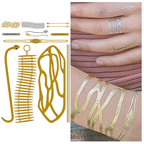 Tat tify oro Bracciale serpente in argento TEMPOR & # X160; re tatuaggi-narghilé unge lato 1(Set con