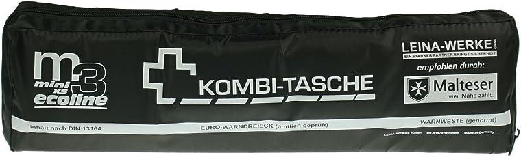 Leina Werke 14086 Mini-Kombitasche M3 Ecoline mit Klett, XS, Schwarz/Weiß