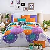San Carlos Tahiti - Juego funda nórdica, para cama de 150/160, color blanco