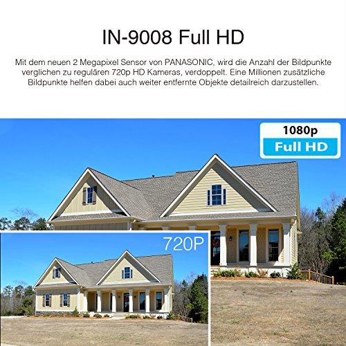 INSTAR IN-9008 Full HD schwarz / IP Kamera / 1080p / Überwachungskamera