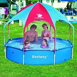 ... Paddling Pools  sc 1 st  Amazon UK & Bestway 56193 8u0027 x20 Splash in Shade Play Pool: Amazon.co.uk ...