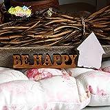 Olivenholz Schriftzug - BE HAPPY -