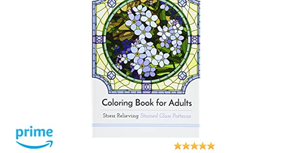 Buy Coloring Book For Adults Stress Relieving Stained Glass Online At Low Prices In India