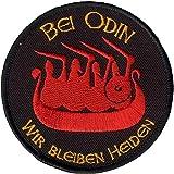 Wotan Textil Parche–En Odin nos quedamos Heiden