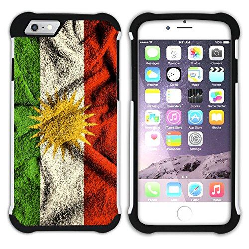 Graphic4You Kurdistan Kurdisch Flagge Hart + Weiche Kratzfeste Hülle Case Schale Tasche Schutzhülle für Apple iPhone 6 Plus / 6S Plus Design #5