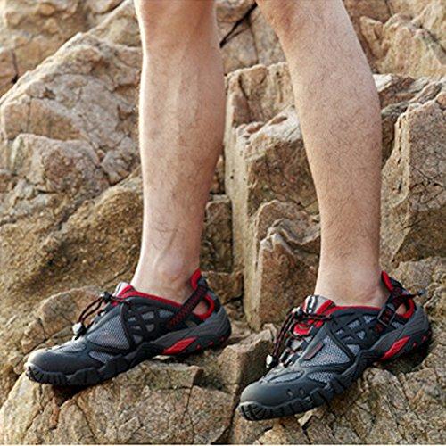 SGoodshoes Herren Damen Wanderschuhe Outdoor Schnell Trocknend Aquaschuhe Trekking Wanderstiefel Schwarz