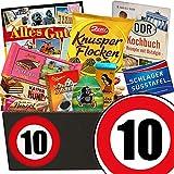 10. Jahrestag | Schokoladen Geschenke | mit Zetti Schlager Süßtafel, Viba Schicht Nougat Stange und mehr | Schokoladen Box