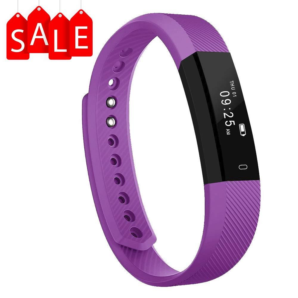 Arbily Pulsera Inteligente, Fitness Tracker Smart Wristband Bracelet monitorear la Actividad de Seguimiento de BOT¨®n t… 1