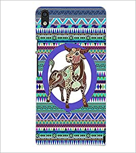 PrintDhaba Zodiac Taurus D-5759 Back Case Cover for HUAWEI ASCEND P6 (Multi-Coloured)