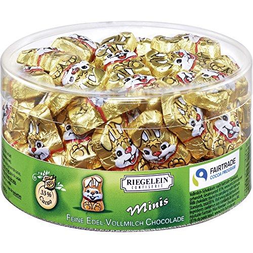 Riegelein Minis Gold-Knuddelhäschen 80 Stück (400g) - Edel-Vollmilch-Schokolade