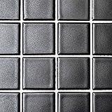 Mosaikfliese uni schwarz matt Keramik Mosaik Steine
