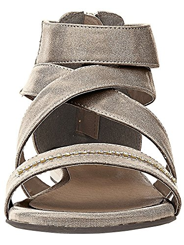 Sandalo tacco alto con Piccole pietre di Andrea Conti Bronzo