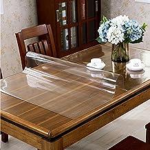 Hjuns cubierta transparente para mesa de comedor, a prueba de grasa, resistente a las rayas y al agua, pvc, traslúcido, 120*70cm