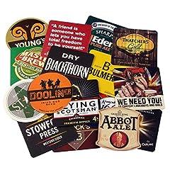 Idea Regalo - bar@drinkstuff Lotto di 50 tradizionali stuoie di birra assortite - Drink bar-Coaster, perfetto per collezionisti