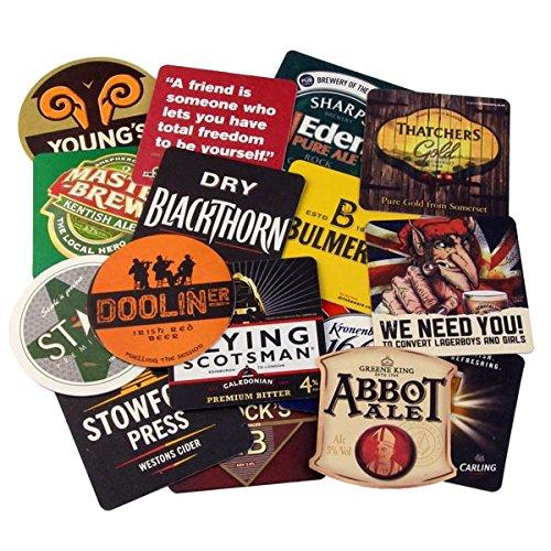 Verschiedene, traditionelle Bier Mats-Set von 50-Pub Getränke Untersetzer, ideal für Sammler - Pub Coaster Set