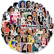 VARWANEO Singer Rihanna Stickers of 50 Vinyl Decal Merchandise Laptop Stickers for Laptops, Computers, Hydro F