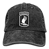 Linkla Danniol US Army 173rd Airborne Brigade Vintage Adjustable Jeans Cap Gym Caps For Man And Woman