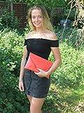 Loni Stylish Large Envelope Patent Clutch Bag/Shoulder Bag Wedding Party Prom Bag in Black