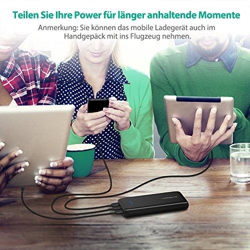 61r5mZH tEL - [Amazon] RAVPower 22.000mAh Powerbank mit USB-C-Anschluss für 29,99 € statt 39,99€