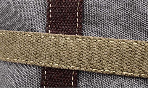 Donna Tela Scuola Borsa A Tracolla Cross Body Bag Nero Grigio