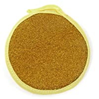 Sponge Bowl Dish Scrubber Pad Yellow Gold Tone
