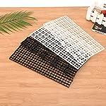 BraveWind 2 Pcs White Grid Divider Tray Egg Crate Aquarium Fish Tank Filter Bottom Isolation Board Pane 11