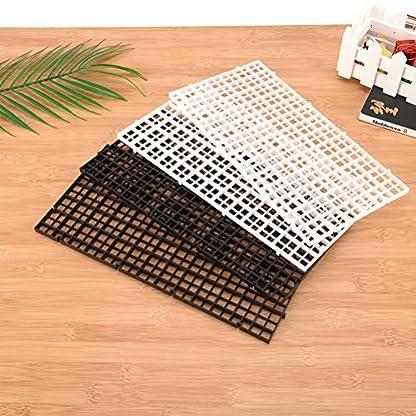 BraveWind 2 Pcs White Grid Divider Tray Egg Crate Aquarium Fish Tank Filter Bottom Isolation Board Pane 4