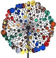 lefeindgdi - Girandola colorata a disco, con rotazione bidirezionale, decorazione per giardino, decorazione da