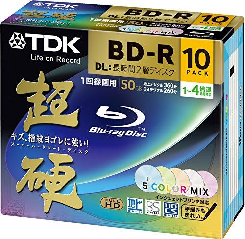 TDK-10dischi Bluray 50GB BD-R DL 4X dual layer Versione stampabile