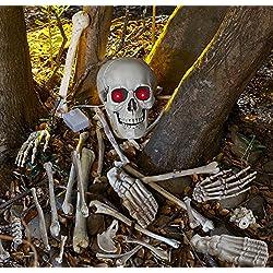 Calavera huesos esqueleto con, sonido y sensor de movimiento