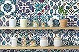 HomeArtDecor | Dekorative Fliesen | Alte Traditionelle Türkische Fliesenaufkleber | Einfach Schälen und Kleben | Geeignet für Küche und Bad | 24 Individuelle Fliesen Abziehbilder | Bodenfliesen und Wandfliesen | Wasserdicht | Wohnkultur