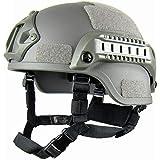 GEZICHTA MICH 2001 Action Version Casco tattico protettivo per softair, con supporto NVG e guide laterali, per paintball e gi