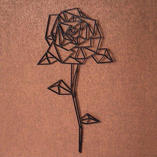 Rose aus Holz - in verschiedenen Farben & Größen - Moderne Wand-Deko & Eyecatcher - Farbe Kupfer, Größe Größe: XL (59,0 x 30,7 cm) ()
