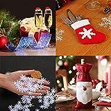 Decoraciones navideñas, tarjetas de vidrio + vajilla + copos de nieve + decoración de botellas, crean un ambiente especial para familias, restaurantes y fiestas temáticas, Xmas Cheer