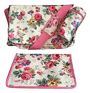 cath kidston sac langer en toile cir e clarendon rose. Black Bedroom Furniture Sets. Home Design Ideas