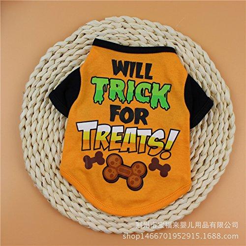 Hund Kleidung Baumwolle Print T-Shirts Kleiner Hund Haustiere (Dollar King Halloween Kostüme)