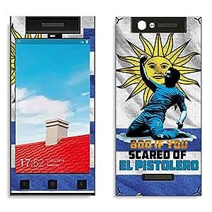 Bluegape Gionee E7 Mini Luis Suarez Football Player Phone Skin Cover, White