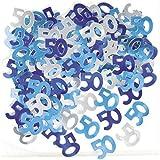 Unique Party - Coriandoli Blu per la Festa di Compleanno - 50 Anni (Taglia Unica) (Blu)