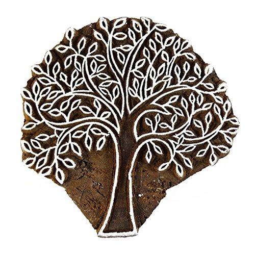 indian Baum Wohnkultur Holztextilmarken Holz Klischee dekorativen Block
