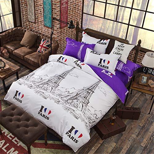 Jwans Einzel Doppel Bettbezug Set 100% Polyester Bettdecke Einfache geometrische Muster Quilt Bettwäsche Set mit Kissenbezügen