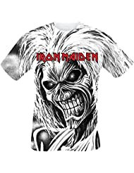 Iron Maiden Killers Allover T-shirt blanc