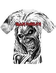 Iron Maiden Killers Allover T-shirt blanc
