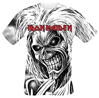 Iron Maiden Killers Allover T-Shirt bianco M