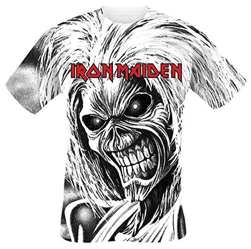 Iron Maiden Killers Allover Camiseta Blanco M